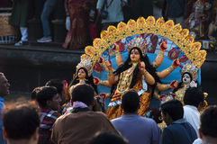 Durga immersion Royalty Free Stock Image