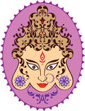 Durga Indian Goddess ornamental Royalty Free Stock Photo