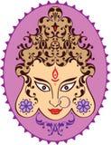 Durga Indian Goddess ornamental. Design stock illustration