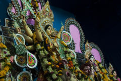 Durga pooja. Idol of godess Durga during Navratri celebration Stock Photo