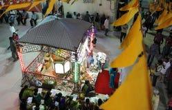 Durga Puja är den hinduiska festivalen i South Asia Arkivbild