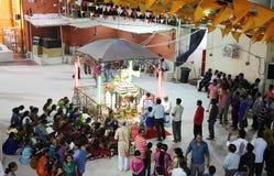 Durga Puja är den hinduiska festivalen i South Asia Arkivbilder