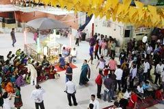Durga Puja är den hinduiska festivalen i South Asia Royaltyfria Foton