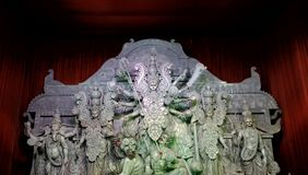 Durga puja świętowanie fotografia stock
