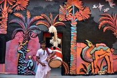 Durga Puja бенгальский случай стоковое изображение