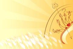 Durga Puja. Illustration of goddess Durga killing Mahishasura Royalty Free Stock Image