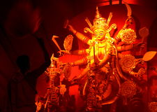Durga puja aarti Royalty Free Stock Photos