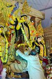 Durga Puja bij HSR Bangalore, Karnataka, India royalty-vrije stock foto