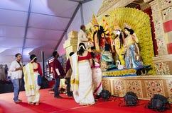 Durga Puja em HSR Bangalore, Karnataka, Índia fotografia de stock royalty free