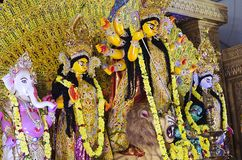 Durga Puja en HSR Bangalore, Karnataka, la India fotografía de archivo