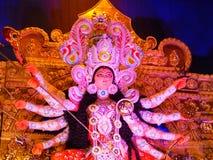 Durga Puja es la adoración más grande de la cultura india Imagenes de archivo
