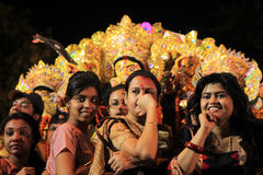 Durga puja festival Stock Photography