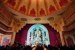 Durga Puja festival celebration in Kolkata, India Stock Photo