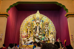 Durga Puja festival celebration in Kolkata, India Stock Image