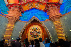 Durga Puja festival celebration in Kolkata, India Royalty Free Stock Images
