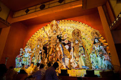 Durga Puja festival celebration in Kolkata, India Stock Images