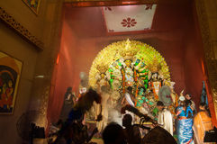 Durga Puja festival celebration in Kolkata, India Royalty Free Stock Photo