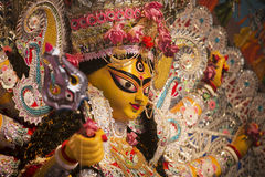 Durga Puja Festival. An Idol of Goddess Durga. Royalty Free Stock Image