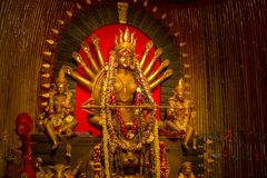 Durga-puja Festival in Kalkutta in Indien Lizenzfreies Stockfoto