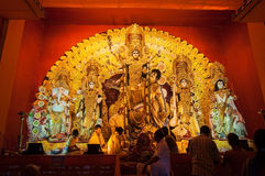 Durga Puja-festival in Kolkata, India royalty-vrije stock afbeelding