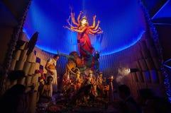 Durga Puja-festival in Kolkata, India Stock Afbeelding