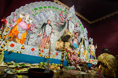 Durga Puja festival in Kolkata, India Royalty Free Stock Photography