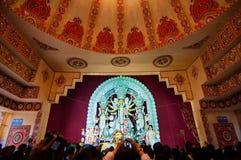 Durga Puja-festivalviering in Kolkata, India Stock Foto