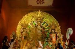 Durga Puja festiwal w Kolkata, India zdjęcia royalty free