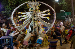 Durga Puja festiwal w Kolkata, India Zdjęcie Stock