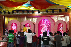 Durga Puja is Hindoes festival in Zuid-Azige Stock Afbeelding