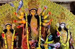 Durga Puja a HSR Bangalore, il Karnataka, India fotografie stock libere da diritti