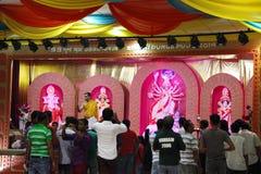 Durga Puja ist hindisches Festival in Südasien Stockbild