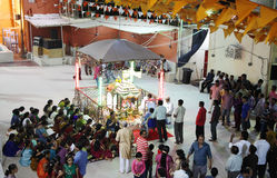 Durga Puja jest Hinduskim festiwalem w Południowa Azja Obrazy Stock
