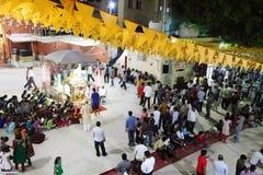 Durga Puja jest Hinduskim festiwalem w Południowa Azja Fotografia Royalty Free