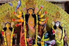 Durga Puja på HSR Bangalore, Karnataka, Indien royaltyfria foton