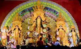 Durga Puja Pandal Fotografia Stock Libera da Diritti