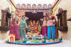 Durga Puja pandal decorations Stock Photography