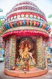 Durga Puja pandal i idole Obraz Stock