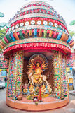 Durga Puja pandal and idols Stock Image