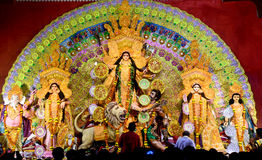 Durga stock photos download 3416 images durga puja pandal durga indian goddess of shakti puja pandal royalty free stock altavistaventures Choice Image