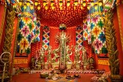 Durga puja ritual Stock Image