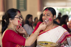 Durga Puja 2013 : Sindoor Khela on Dashami Stock Photography