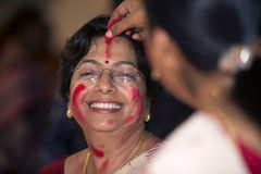 Durga Puja 2013 : Sindoor Khela on Dashami Stock Image