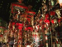 Durga puja som är pandal vid tridharasanghaen (tridharagruppen) Royaltyfria Foton