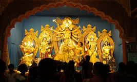 Durga Puja in West Bengal stock photo