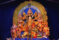 Durga pujaberömmar royaltyfri fotografi