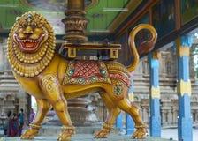 Durga in Sakthi avatar at Mahalingeswarar Temple. Stock Photos