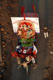 Durgotstva. Durga idol is being carried for visarjan ( emersion in holy river Narmada Royalty Free Stock Photography