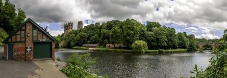 Durham-Bootshaus-Panorama Stockbilder