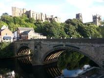 Durham - castillo y catedral Foto de archivo libre de regalías